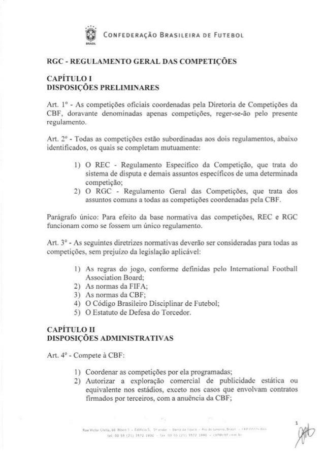 Regulamento geral das competições