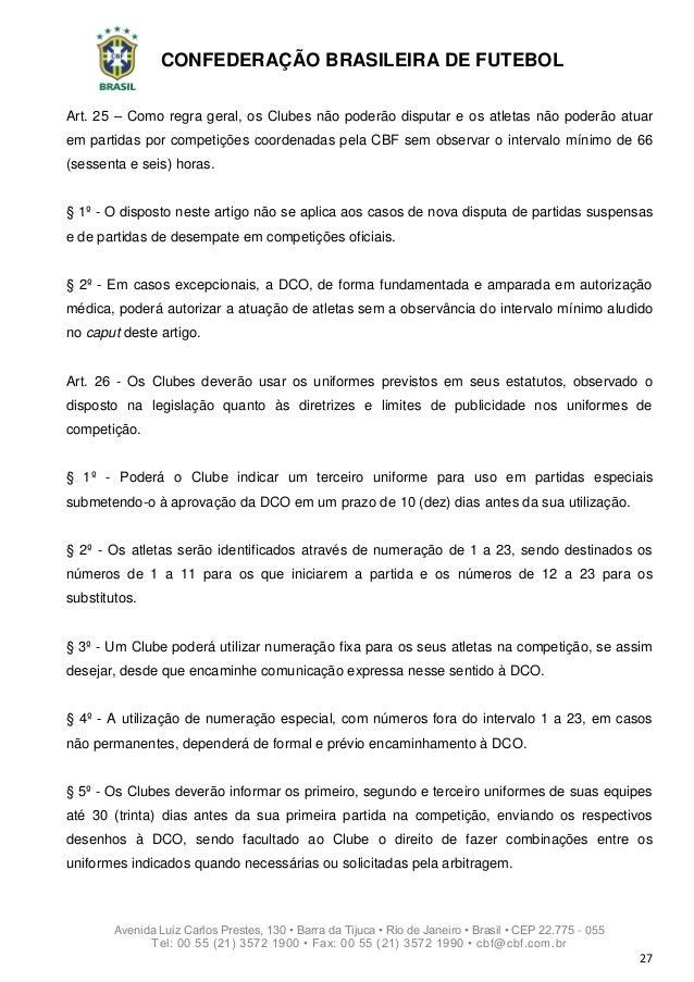Regulamento Geral de Competições da CBF - 2019 3939b1a336a12