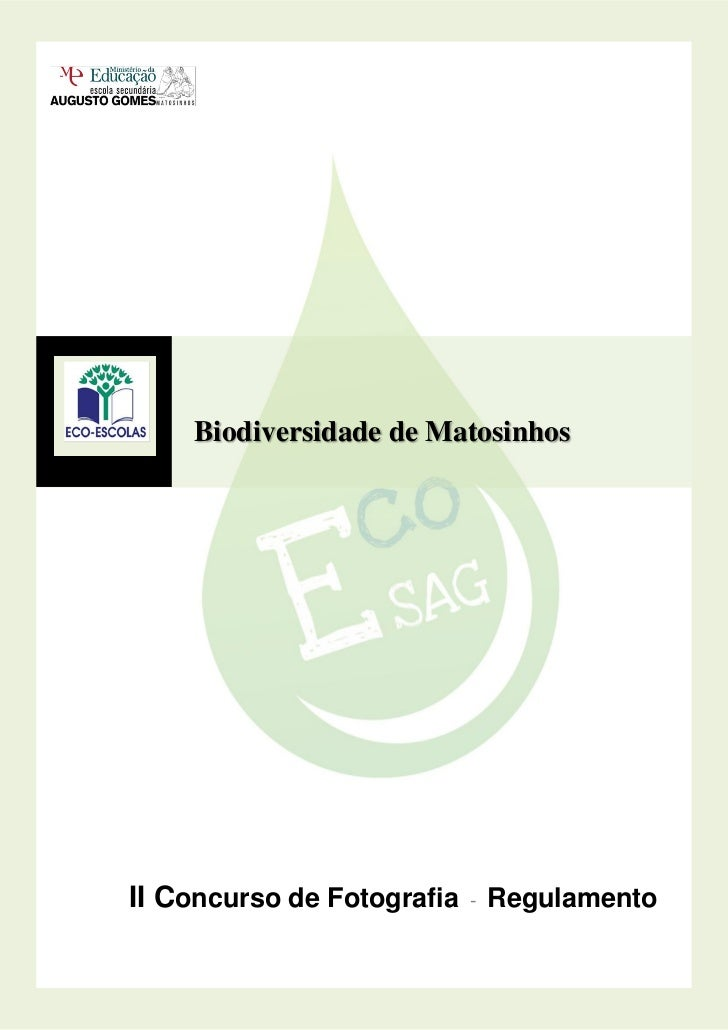 Biodiversidade de MatosinhosII Concurso de Fotografia - Regulamento