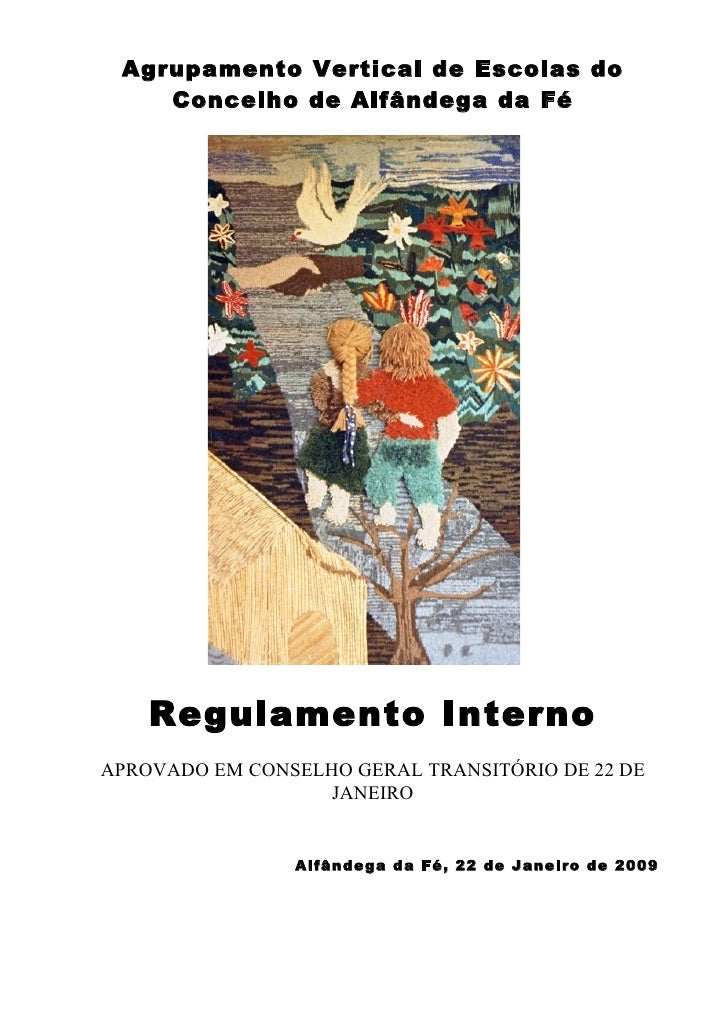 Regulamento interno 2009