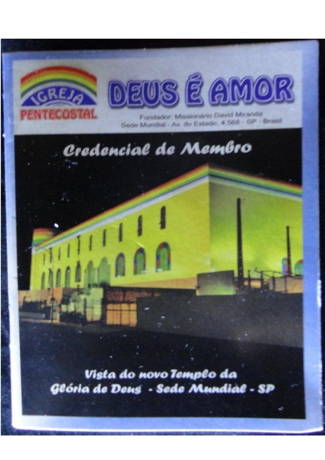Regulamento interno da igreja pentecostal deus é amor (validade 12.2015)