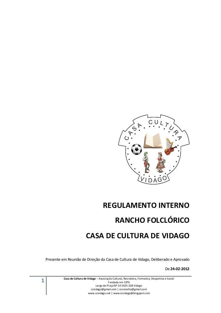 REGULAMENTO INTERNO                                                        RANCHO FOLCLÓRICO                              ...