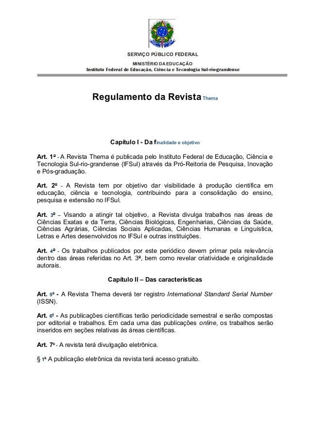 SERVIÇO PÚBLICO FEDERAL                                       MINISTÉRIO DA EDUCAÇÃO                   Instituto Federal d...