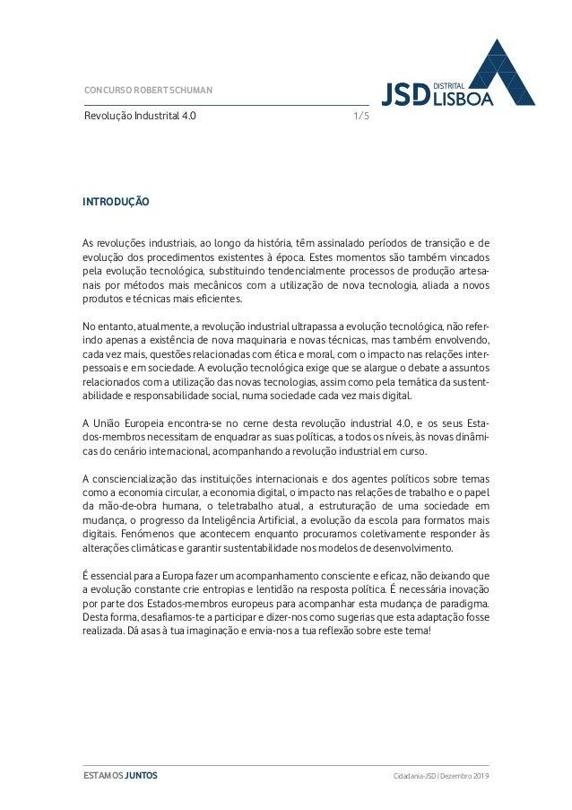 3ª Edição do Concurso Robert Schuman da JSD Distrital de Lisboa Slide 2