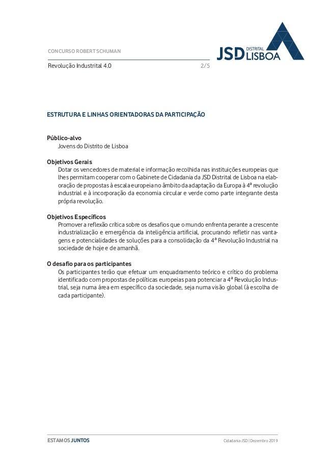 3ª Edição do Concurso Robert Schuman da JSD Distrital de Lisboa Slide 3