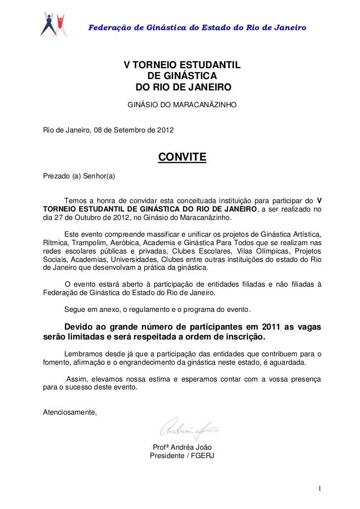 Federação de Ginástica do Estado do Rio de Janeiro                        V TORNEIO ESTUDANTIL                            ...