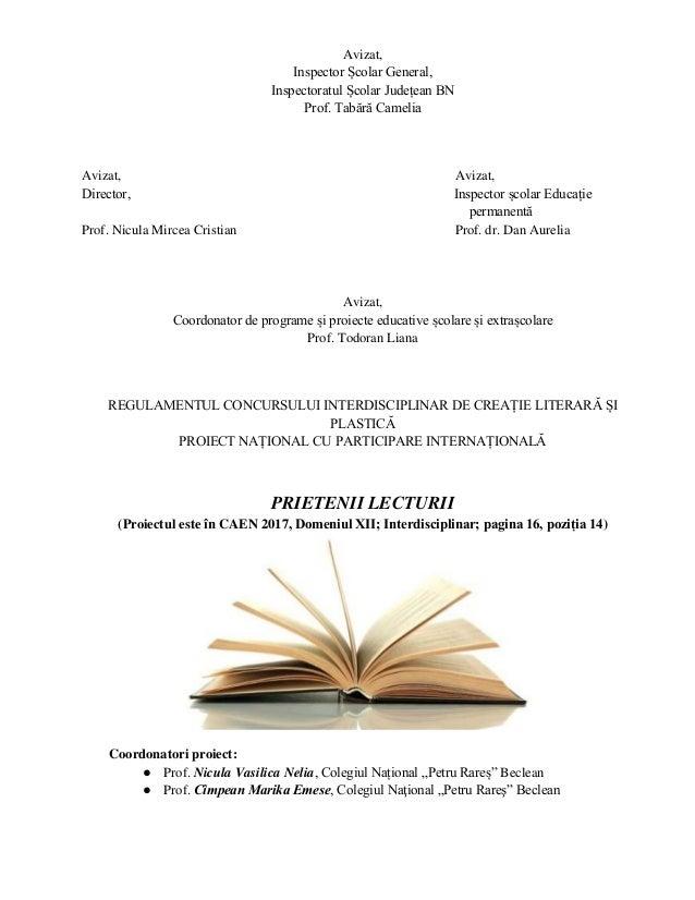 Avizat, Inspector Școlar General, Inspectoratul Școlar Județean BN Prof. Tabără Camelia Avizat, Avizat, Director, Inspecto...