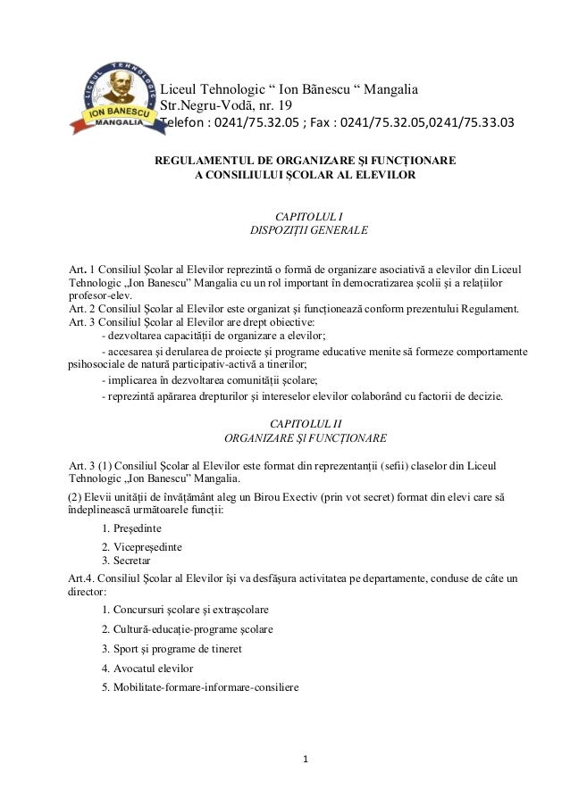 "Liceul Tehnologic "" Ion Bãnescu "" Mangalia Str.Negru-Vodã, nr. 19 Telefon : 0241/75.32.05 ; Fax : 0241/75.32.05,0241/75.33..."
