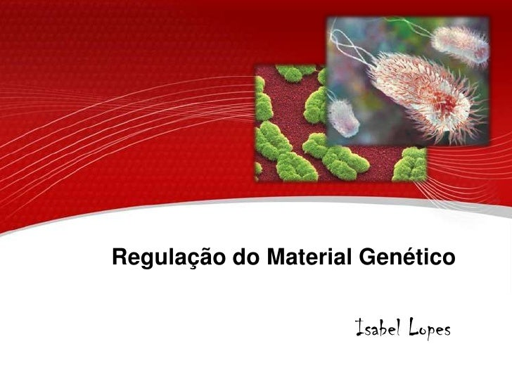 Regulação do Material Genético<br />Isabel Lopes<br />