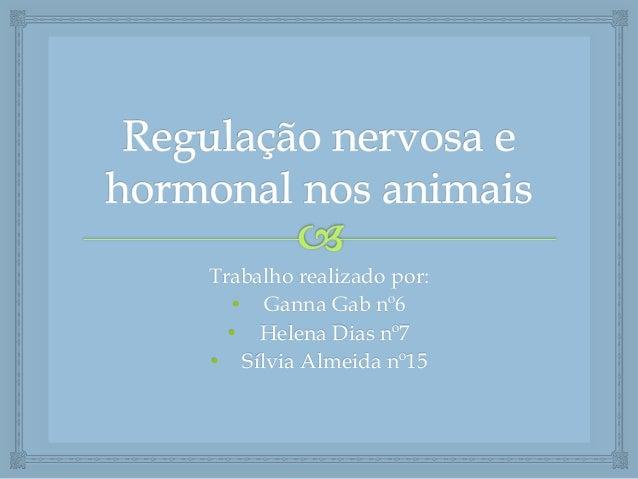 Trabalho realizado por: • Ganna Gab nº6 • Helena Dias nº7 • Sílvia Almeida nº15