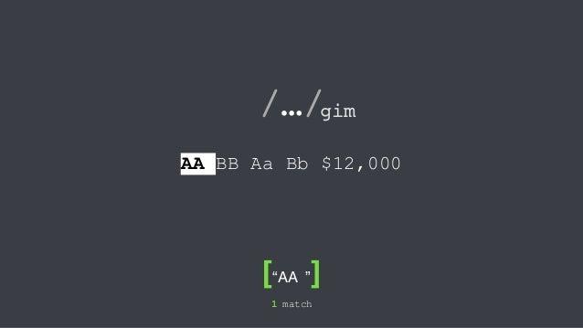 초보자를 위한 정규 표현식 가이드 (자바스크립트 기준) Slide 2