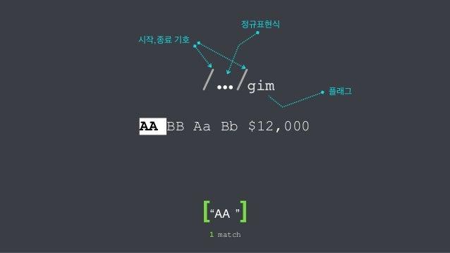 초보자를 위한 정규 표현식 가이드 (자바스크립트 기준) Slide 3