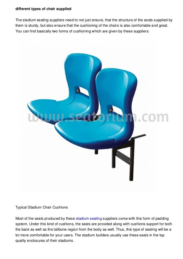 Different Types Of Furniture Given By The Arena Seat