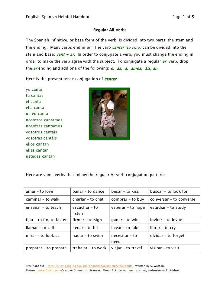 English-Spanish Helpful Handouts                                                                   Page 1 of 5            ...