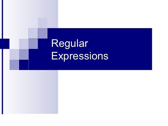 RegularExpressions