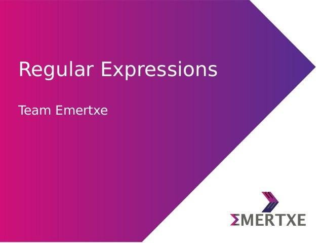 Python : Regular expressions
