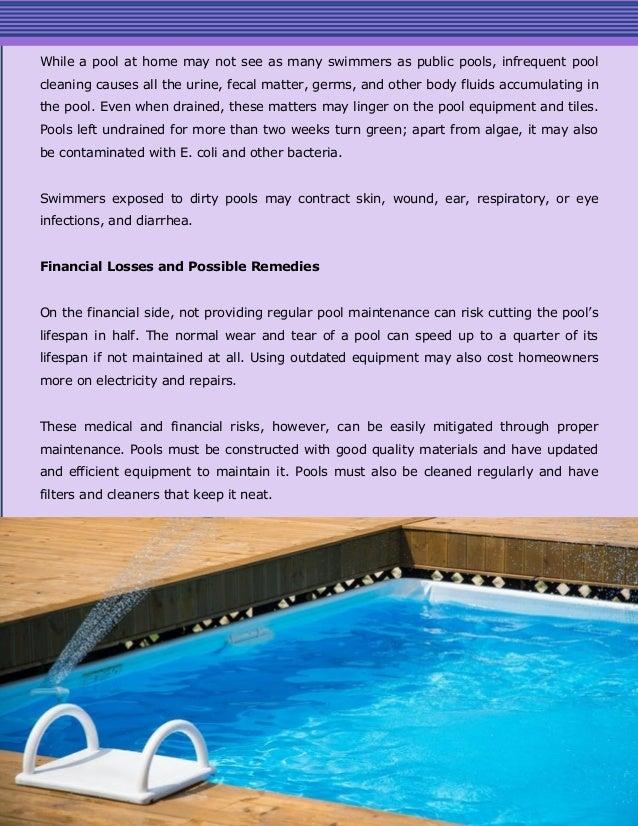 Regular Swimming Pool Maintenance Helps Mitigate Health and ...