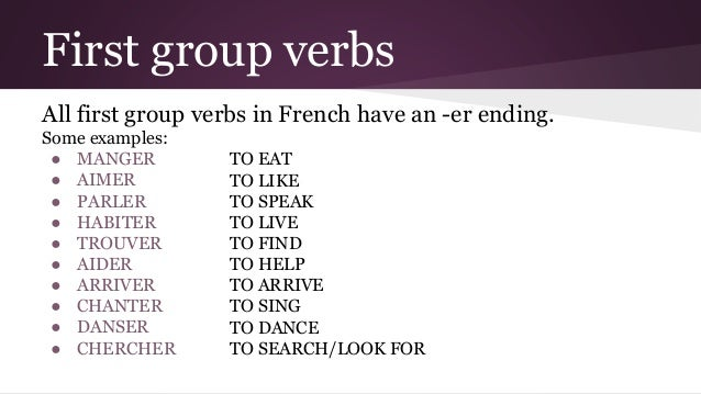 French regular verbs – first group (present tense) 3