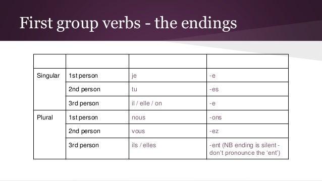 French regular verbs – first group (present tense) 5