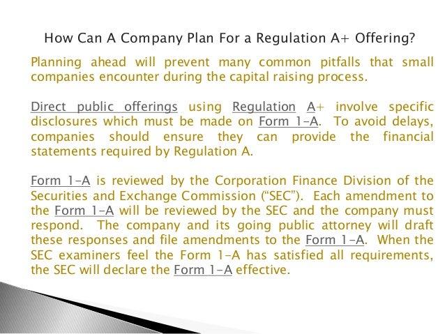 Regulation A+ The Reverse Merger Alternative - Securities Lawyer 101