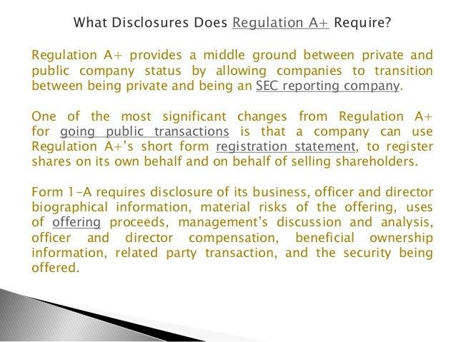 Regulation A+ Avoid Reverse Mergers