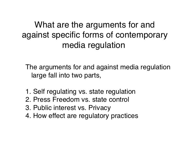 arguments against freedom of press