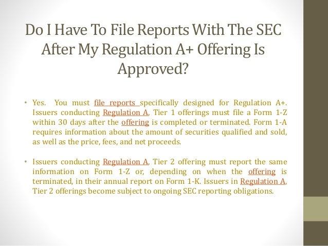 Regulation A+ Q&A - Securities Lawyer 101
