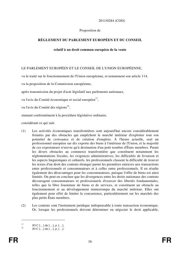 2011/0284 (COD)                                              Proposition de                RÈGLEMENT DU PARLEMENT EUROPÉEN...