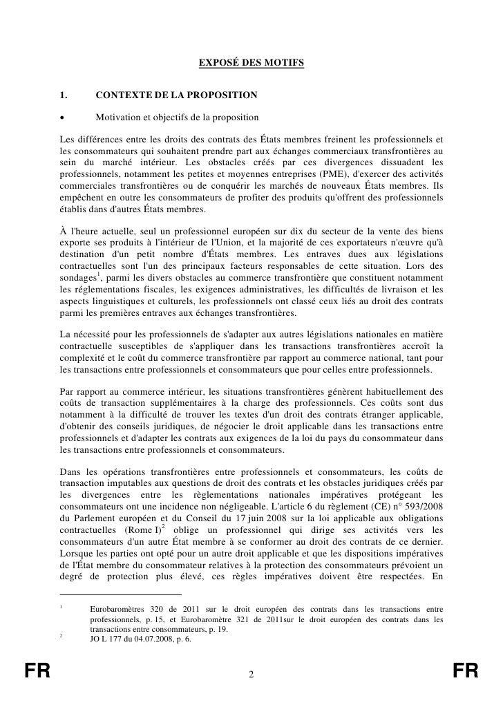 EXPOSÉ DES MOTIFS     1.       CONTEXTE DE LA PROPOSITION     •        Motivation et objectifs de la proposition     Les d...