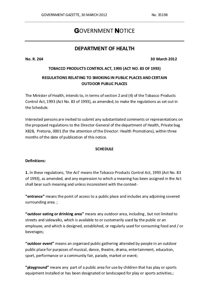GOVERNMENT GAZETTE, 30 MARCH 2012                               No. 35198                            GOVERNMENT NOTICE    ...