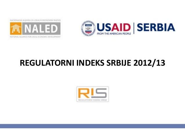 REGULATORNI INDEKS SRBIJE 2012/13