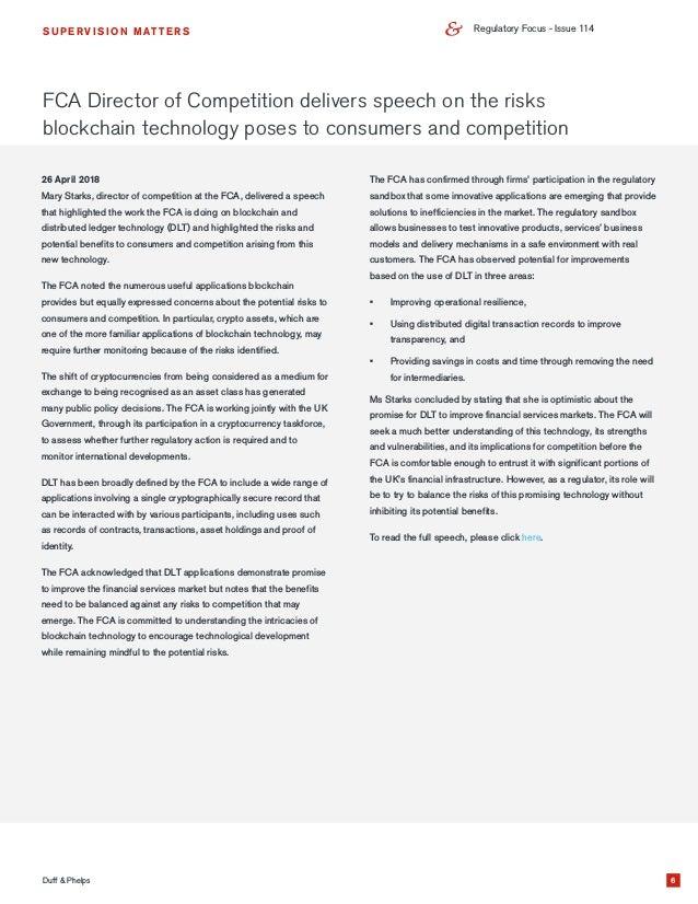 Regulatory Focus - June 2018