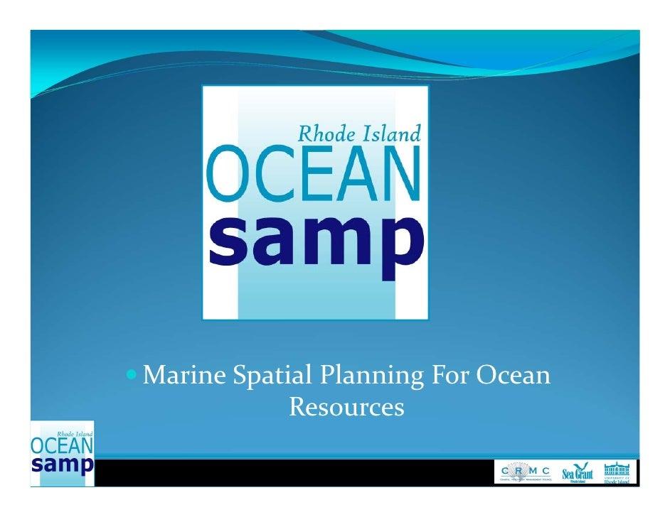  MarineSpatialPlanningForOcean             Resources