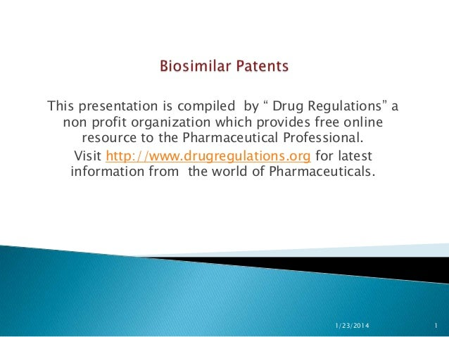 "This presentation is compiled by "" Drug Regulations"" a non profit organization which provides free online resource to the ..."