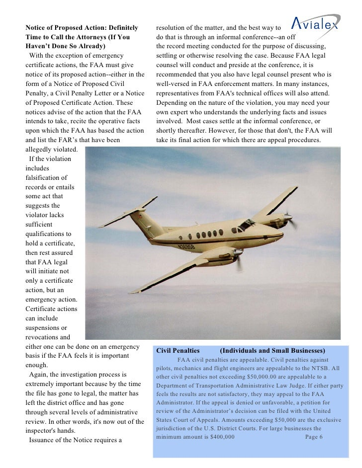 """an introduction to the faa enforcement actions """"(2) the number of enforcement actions taken by the administration for violations of or noncompliance with the interim final rule and any subsequent final rule, together with a description of the actions and"""" [note: once again, already reported on."""