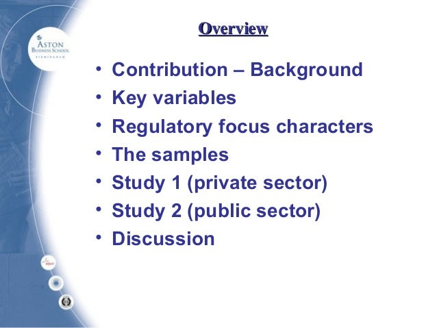 Regulatory Focus Theory
