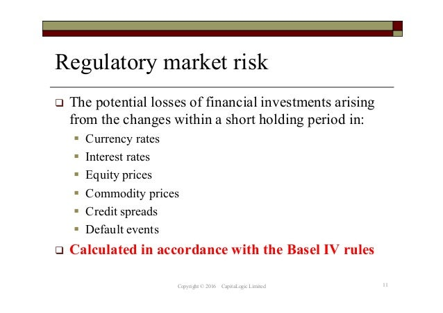 regulatory reporting of market risk under the basel iv