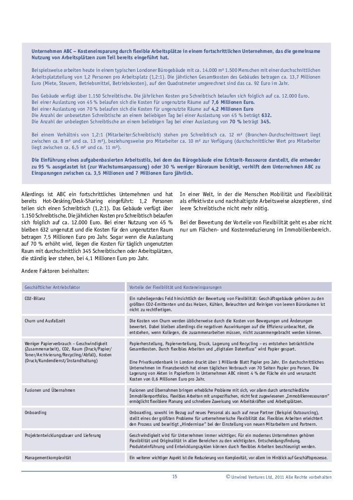 VWork: Bewertung der Vorteile flexiblen Arbeitens
