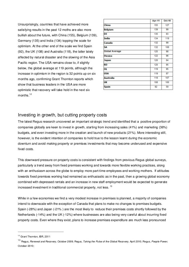Unsurprisingly, countries that have achieved moresatisfying results in the past 12 moths are also morebullish about the fu...