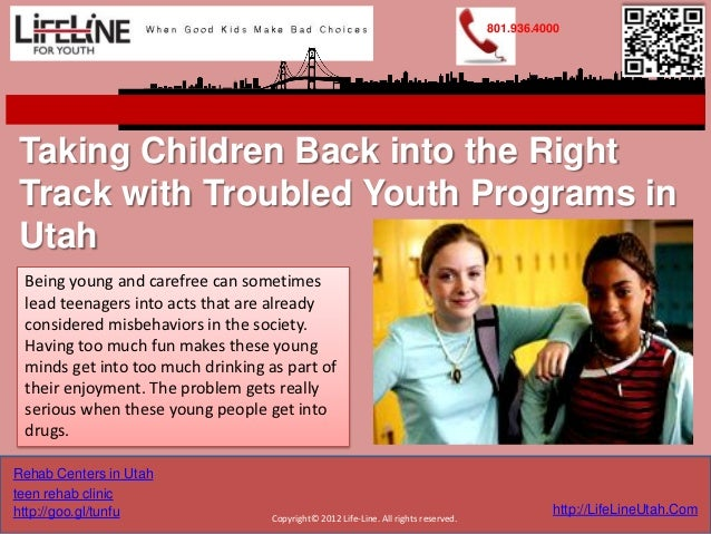 801.936.4000Taking Children Back into the RightTrack with Troubled Youth Programs inUtah Being young and carefree can some...