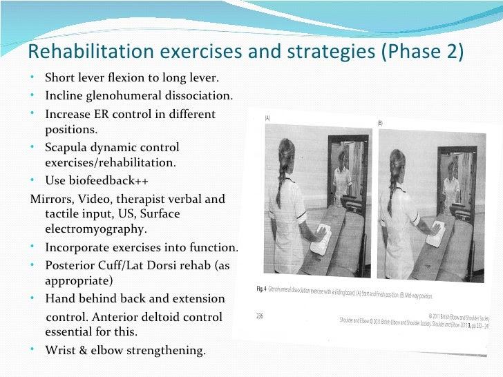 Rehabilitation following a reversed total shoulder ...