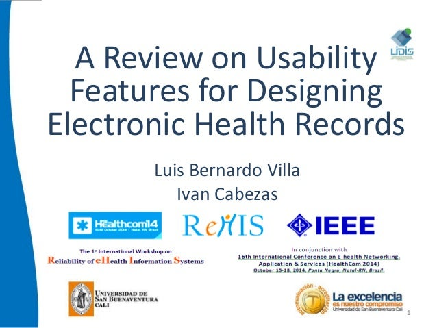 a review of electronic health record optimization In the context of this review, an electronic health record (ehr) is defined  the  purpose of this review is to examine what might be the optimal.