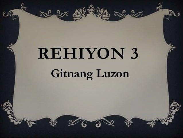 REHIYON 3 Gitnang Luzon