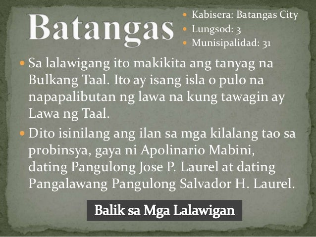 dating pangalan ng lalawigan ng batangas