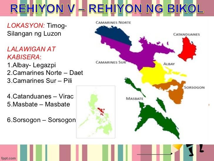 Rehiyon V- Rehiyon ng Bicol Slide 3
