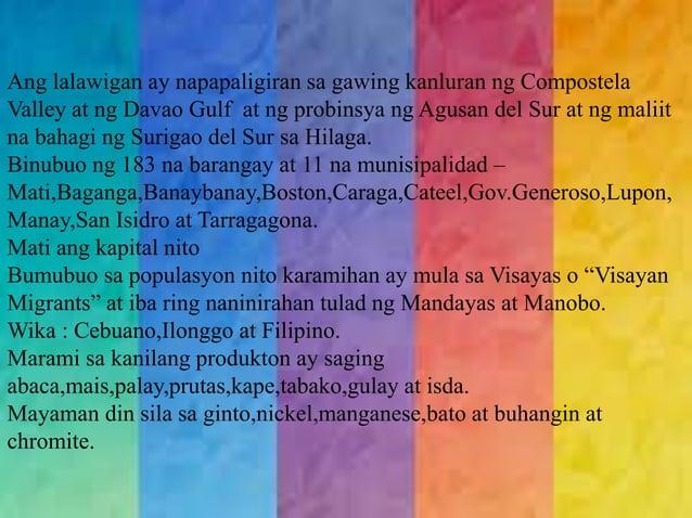 KWENTONG BAYAN  - The Lost Children  - Bakiwos and the woman who had wartz  MAIKLING KWENTO  -Tinampikan  TULA  (Davao del...