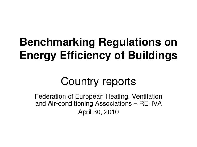 Benchmarking Regulations on Energy Efficiency of Buildings Country reports Federation of European Heating, Ventilation and...