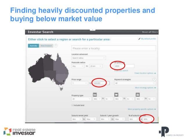 Finding Properties Below Market Value