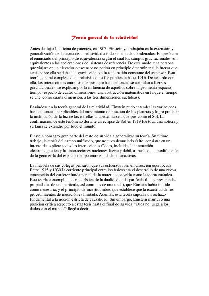 teoria de la relatividad general pdf