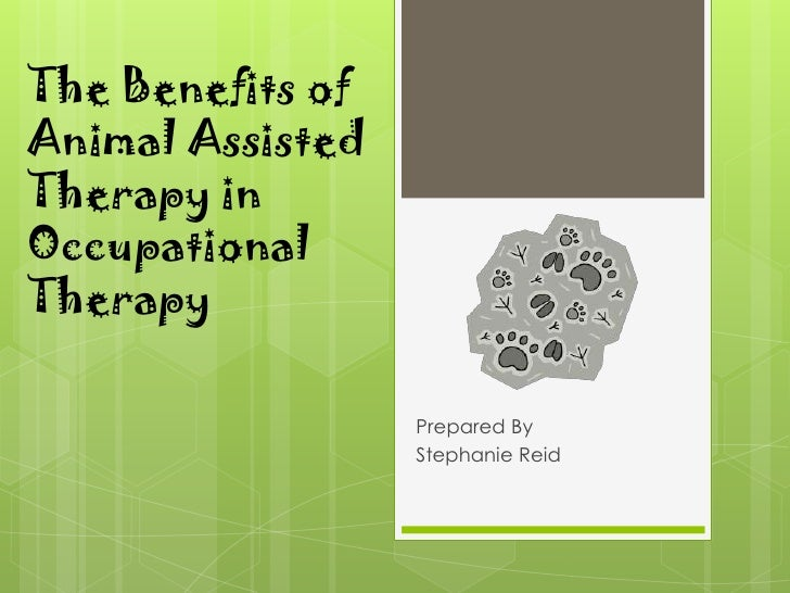 The Benefits of Animal Assisted Therapy in Occupational Therapy<br />Prepared By<br />Stephanie Reid<br />